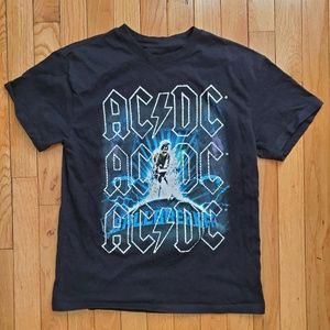 Tops - AC DC rhinestone black tshirt for women or big kid